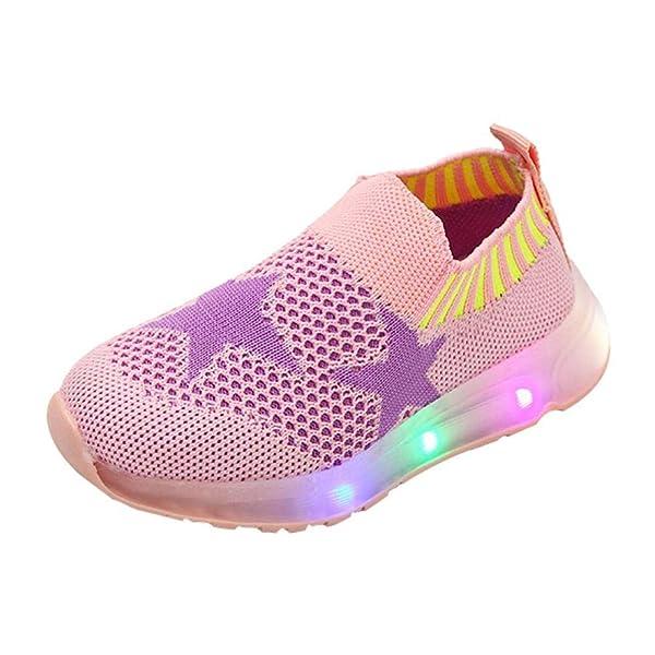 22fd0f83 Kids Baby Girls Boys Lightweight Sneakers Student Led Light Mesh ...