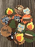 12 Campfire Cupcake Toppers- Woodland