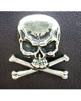 """Metal Skull & Crossbones Cast Ornament with Rivet 1"""" X 1"""" 6 Pieces"""