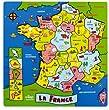 """Vilac - 2461 - Jeux et Jouets en Bois - Puzzle g�ant """"La France"""" (23 pi�ces)"""