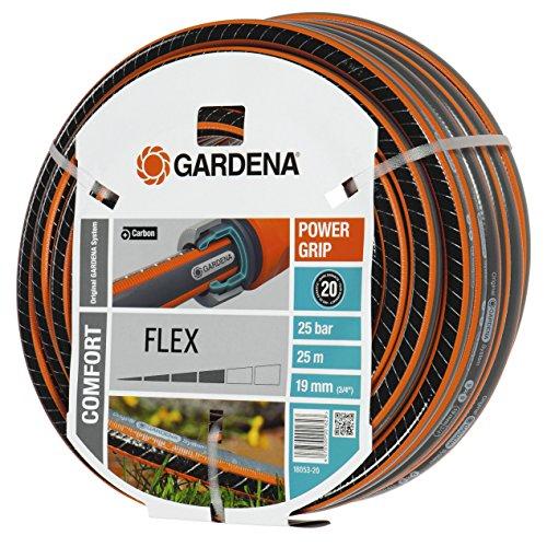 Gardena Gartenschlauch, Comfort Flex Schlauch, 19 mm, 3/4 Zoll, 25 m, mehrfarbig, 38 x 38 x 19 cm, 18053-20