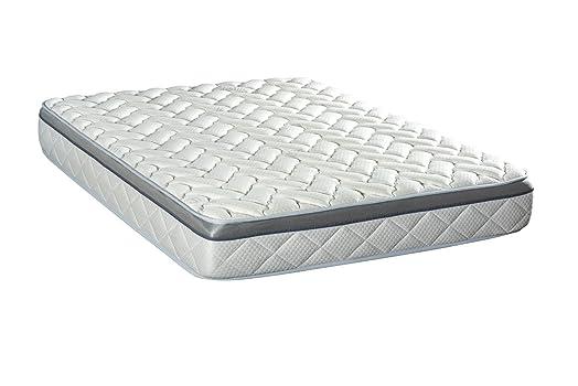 Olimpo Aura, in poliuretano materasso, in cotone, colore: bianco, bianco, 200 X 140 X 26 cm
