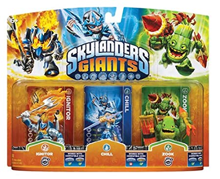 Skylanders: Giants - Triple Pack B: Chill, Zook, Ignitor