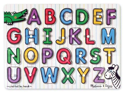 61L6YQyvR5L Buy  Melissa & Doug See Inside Alphabet Peg Puzzle