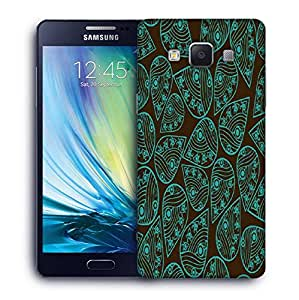 Snoogg Green Pattern Leaves Printed Protective Phone Back Case Cover For Samsung Galaxy A5