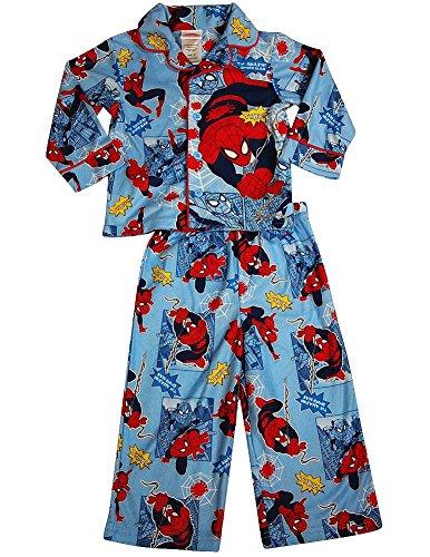 Spiderman - Little Boys Long Sleeve Spiderman Pajamas, Light Blue 36257-3T