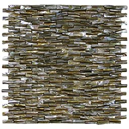 3D Brick Pearl Shell Tile 1 sq.ft