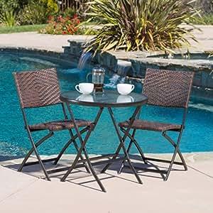 cantinela 3pc outdoor folding bistro set