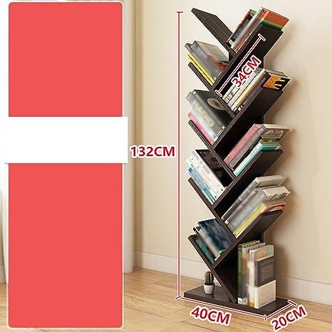 FEIFEI Libreria a forma di albero in legno massello multifunzione a pavimento multistrato 11 colori ( Colore : 09 )