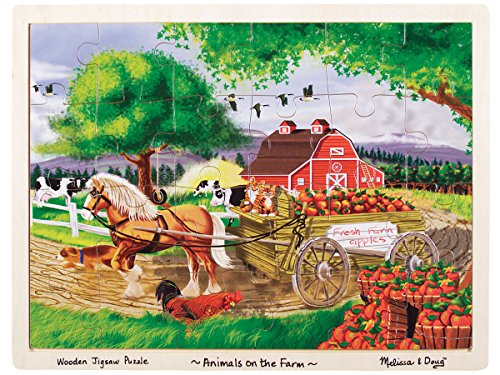 Melissa & Doug Animals on The Farm Jigsaw (24-Piece) Puzzle