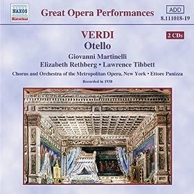 Verdi: Otello (Martinelli, Rethberg, Panizza)(1938)