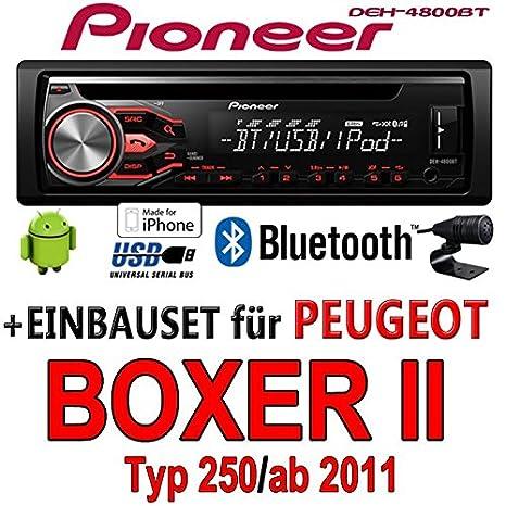 Peugeot Boxer 2 - Pioneer DEH-4800BT - CD/MP3/USB Bluetooth Autoradio - Einbauset