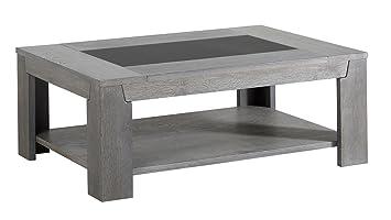 Titan Grey Solid Oak Coffee Table
