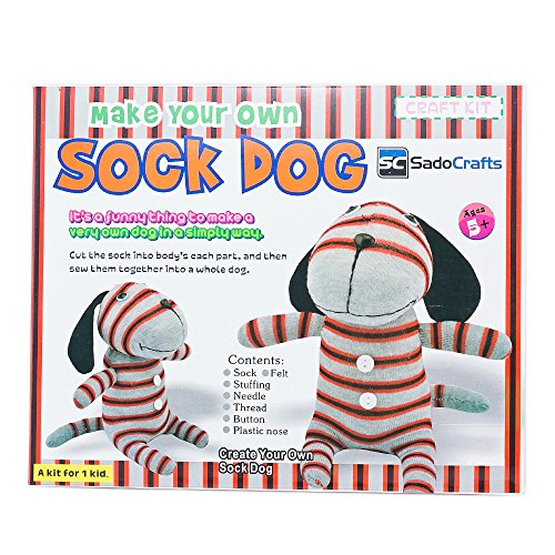 Learn More About SadoCrafts Sew Your Own Sock Doll Sewing Craft Kit Sew Stuff Model DOG