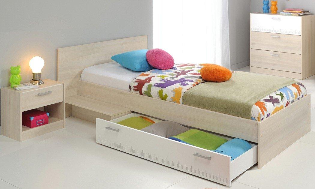 Jugendzimmer Chiron 13 Akazie Nb Jugendbett 90×200 Kinderbett Bett Nachttisch Nako Kommode Kinderzimmer bestellen