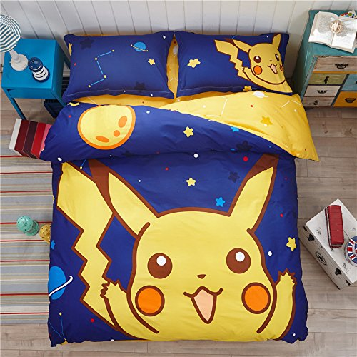 100% Cotton Pikachu Print Kids Bedding Sets