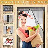 """Magnetic Screen Door-Without worry the Bugs & Mosquitoes in,Friendly to Child & Pets.Fits Door Openings up to 34""""x82"""""""