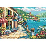 Dimensions Gold Collection Petite Overlook Cafe Counted Cross Stitch Kit: 7x5