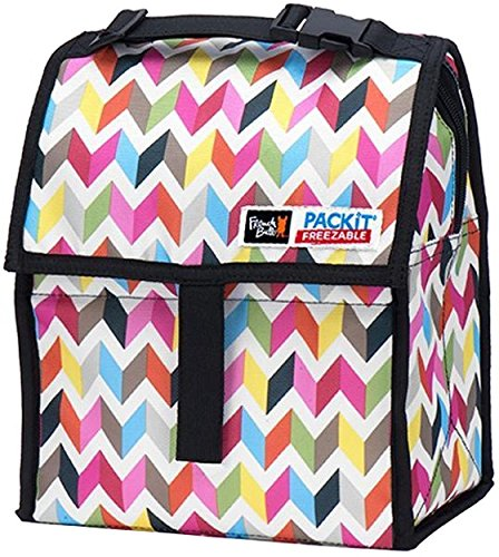 PackIt Freezable Lunch Bag with Zip Closure, Ziggy