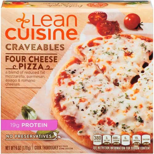 Lean Cuisine Four Cheese Pizza, 6 Ounce -- 8 per case. (Frozen Cheese Pizza compare prices)