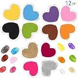 Craft Ink Pad Stamps Partner DIY Color, 12 Color Finger Ink Pads Washable for Stamps, Paper, Wood Fabric (Pack of 12) (Color: Heart 12pcs)