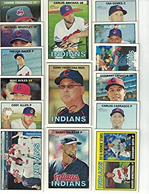 Cleveland Indians / 2016 Topps Heritage Baseball Team Set. FREE 2015 Topps Indians Team Set WITH PURCHASE!