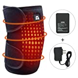 Heating Knee Pad, ARRIS Heated Knee Wrap/Electric Heat Knee Brace w/7.4V Lipo Battery Warm Therapy for Joint Pain, Arthritis Meniscus Pain Relief for Men and Women (1PCS) (Color: White, Tamaño: L/X-Large)