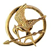New Elegant Gold Vintage Movies Alloy Mockingjay Badge Pin Brooch Unique Jewelry