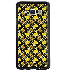 Printvisa Yellow And Black Pattern Back Case Cover for Samsung Galaxy A5::Samsung Galaxy A5 A500F
