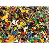 1 Pound LEGO Technic BIONICLE PIECES ~ BODY PARTS Weapons Masks ~ Random Lot EUC