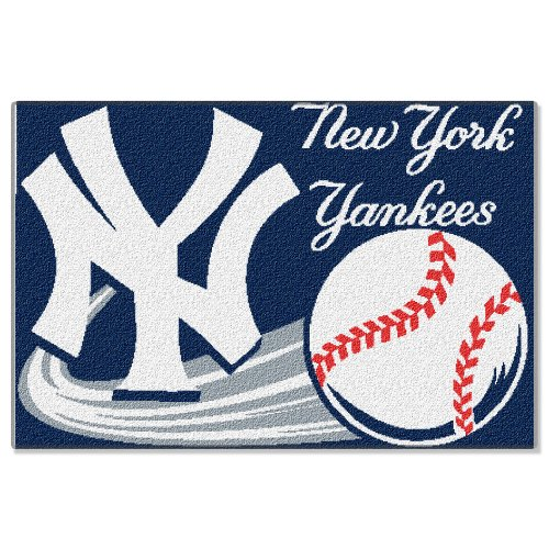 Mlb new york yankees 20 inch by 30 inch tufted rug home for Yankees bathroom decor