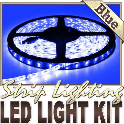 6' Feet Blue 114 Leds Light Lighting Remote Control Dimmer Kit Smd3528 110V Plug - Led Strip Lighting For Aquariums, Bedrooms, Bathrooms, Commercial, Garage, Kitchen, Living Room, Man Caves, Offices, And Vehicles Led Reading Light Strip Night Light Lamp B