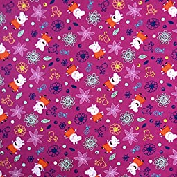 SheetWorld Extra Deep Fitted Portable / Mini Crib Sheet - Peppa Pig Flowers - Made In USA