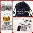 Whisky Stones, 9Pcs Set Delicate Box Velvet Bag Whiskey Rock Beer Stones Wine Cube Body and Base TM®