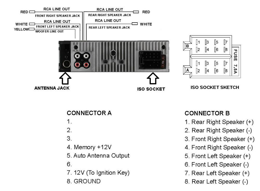 Boss Amplifier Wiring Diagram : Boss car stereo wiring diagrams free engine image