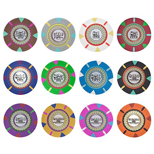 Great Features Of Claysmith Gaming The Mint Poker Chip Heavyweight 13.5-gram Clay Composite - Pack o...