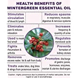 Ambrosial Wintergreen Essential Oil 100% Natural Organic Uncut Undiluted (1000ML)