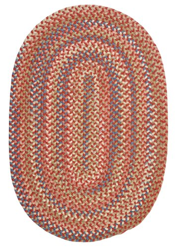 Cedar Cove Polypropylene Braided Rug, 2-Feet by 3-Feet, Rust