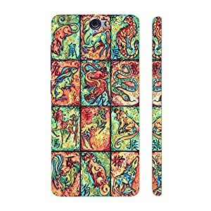 Enthopia Designer Hardshell Case CHINESE ZODIACS Back Cover for HTC One A9