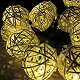 E-Light 20 Globe String Lights Solar Powered for Christmas, Outdoor, Patio, Garden, Holiday, Party, Wedding(Warm White)