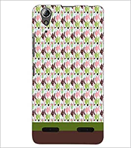 PrintDhaba Fish Pattern D-1847 Back Case Cover for LENOVO A6000 PLUS (Multi-Coloured)
