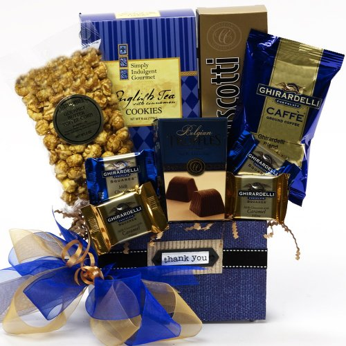Thank You - Desk Caddy of Coffee and Treats - Gourmet Food Gift Basket