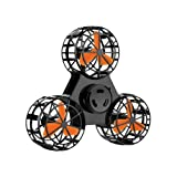Aosino 2018 New Version Fingertip Flying Gyro, Flying Fidget Spinner Toy whirling Aircraft Relieving Tension Stress and Anxiety ADHD, USB Rechargable, Best Gift for Yourself or Your Kids (Color: Black)