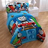 Thomas Train Railroad 4pc Twin Comforter Sheets Bed Set