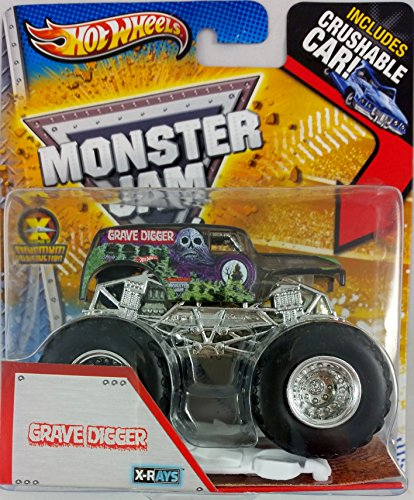 Hot Wheels 2013 Monster Jam X-Rays GRAVE DIGGER (Includes Crushable Car)