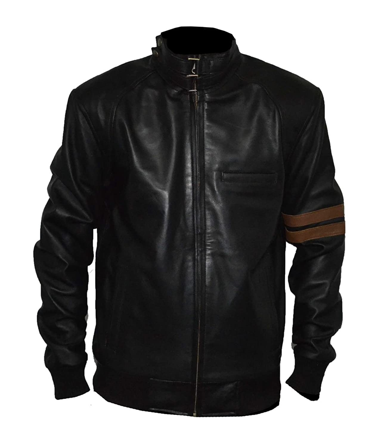 Haliburt Men Real Sheep Leather Jacket SAT 2
