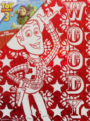 "Disney Pixar TOY STORY Wall Decoration ART BOARD (7 1/2"" X 9 3/4"") (WOODY Red Foil Art Board) - 1"