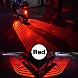 CLighting LED Auxiliary Lights Angel Wings Driving Rock Lamp for Car Motorcycles Jeep Trucks Off Road Bicycle Kawasaki Harley ATV SUV Vehicle Boat (Red) (Color: Red)