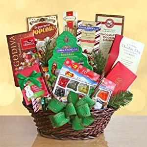 Sweet & Scrumptious Christmas Holiday Gourmet Treat Gift Basket