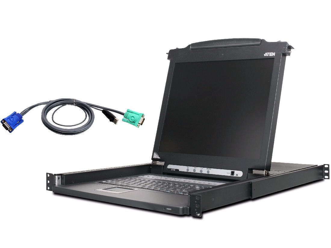 ATEN CL1016MUKIT 16-Port 17-Inch LCD (CL1016M) with 16 USB KVM Cables Bundle